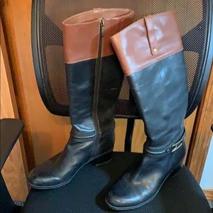 Bandolino shoes - Tall Black & Brown Boots Leather